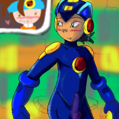 exe megaman and roll exe Cum on soles of feet